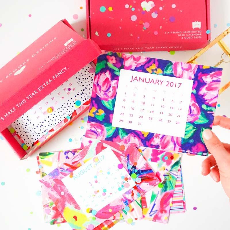 Ashley Brooke Designs Desk Calendar Giveaway via smelltheroses.com