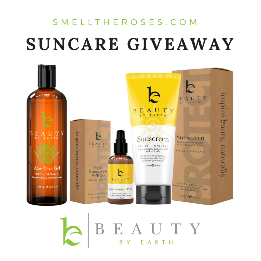 Beauty by Earth Suncare Giveaway | smelltheroses.com