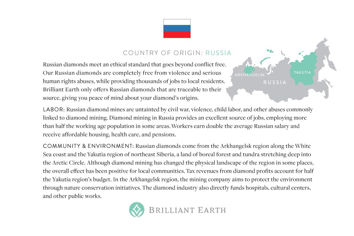 Russia Origin Card - Brilliant Earth | smelltheroses.com