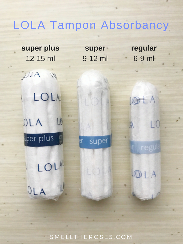 LOLA Organic Tampons Absorbency | smelltheroses.com