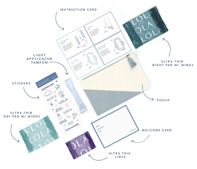 First Period Kit by LOLA | smelltheroses.com