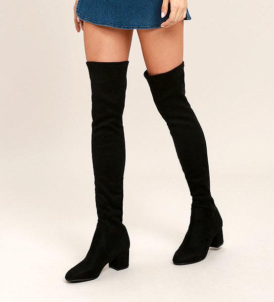 Vegan Over The Knee Boots | smelltheroses.com