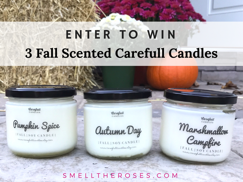 Nontoxic Fall Scented Candle Giveaway from smelltheroses.com