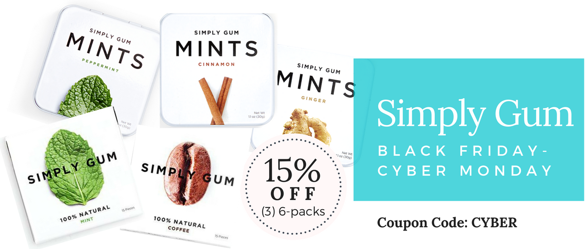 Simply Gum Black Friday and Cyber Monday