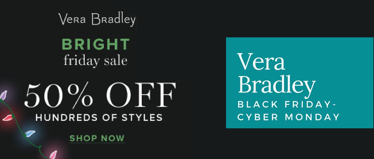 Vera Bradley Black Friday and Cyber Monday
