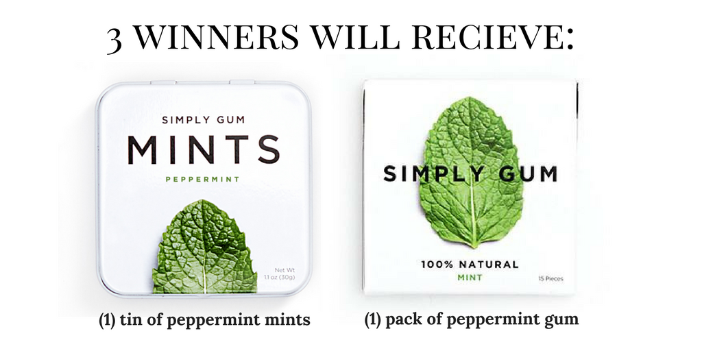 Simply Gum Giveaway | smelltheroses.com